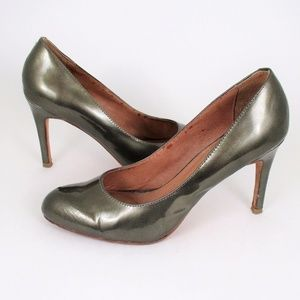 "Corso Como 8 Metallic Leather Pump Heels 3.5"" GUC"